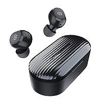 سماعة أذن لاسلكية تعمل بالبلوتوث 5.0 داخل الاذن ستيريو لاسلكية مزودة بميكروفون بكلتا الأذنين ومزودة بمايكروفون مدمج بسلك واحد، وإجمالي 35 ساعة، وميزة TrueFree Plus متطورة