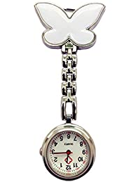 TrifyCore Reloj de Bolsillo médico Especial de la Enfermera de la decoración de la Mariposa de Plata