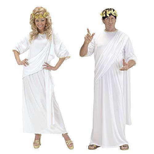 Widmann 71791 - Kostüm Toga, unisex, weiß, Größe S (Gold Toga Kostüm)