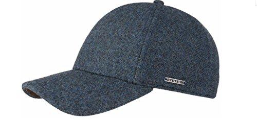 Stetson - Hat with Visor - Automne Spring Hiver - Laine ET Cuir - PEPTED on Bleu ET Noir - Haute QUALITÉ - Original - Mod. 7720502 - COL.325