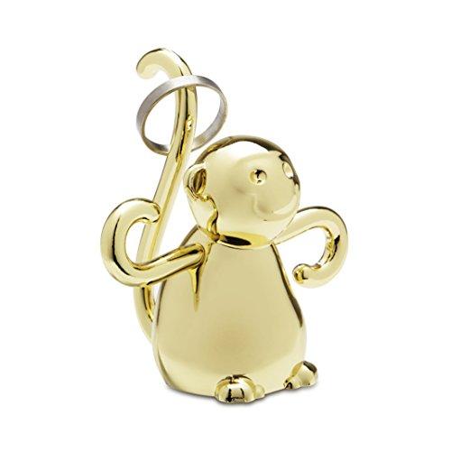 Umbra 299256104Zoola Ring Holder Monkey Decoration Metal Monkey-Brass/Gold