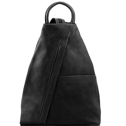 81409634 - TUSCANY LEATHER: SHANGHAI - Sac à dos en cuir, noir