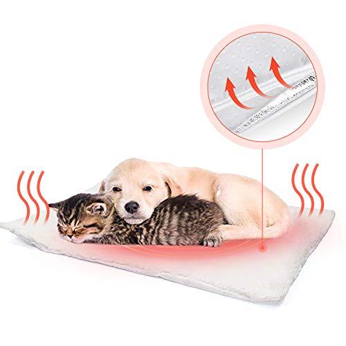 Fyore Katzendecken Haustierdecke Selbstheizende Decke für Katzen Hunde kleine Tiere Hundematte Wärmmatte Heizmatte,Umweltfreundliche Kuschelig waschbar,Größe: 58x43cm