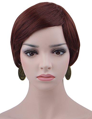 Spretty Women's Weinrot Farbe kurze Bob Haar mit kleinen Pferdeschwanz Perücke für Daily (Kostüm Lady Ciel)