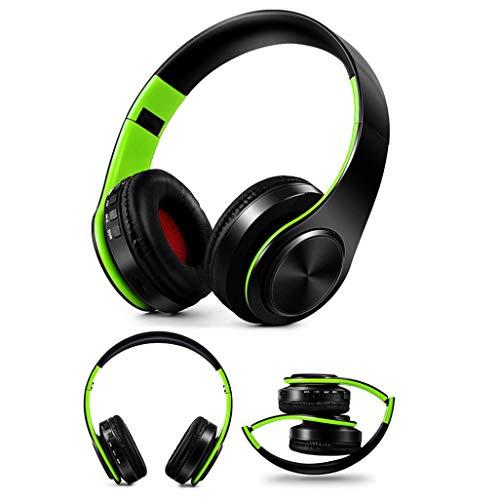 samLIKE Kabellos + Verdrahtet Kopfhörer, Noise Reduction Tragbarer und Faltbarer Bloothooth Headset für iPhone,Android Smartphones PC und MP3 Players usw, Unterstützung SD/TF-Karte ( C)