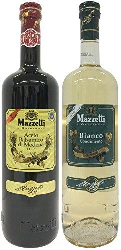 Probierpaket: Mazzetti Aceto Balsamico di Modena IGP Tino Tipico (1 x1L) + Mazzetti Condimento Bianco (1 x 1L)