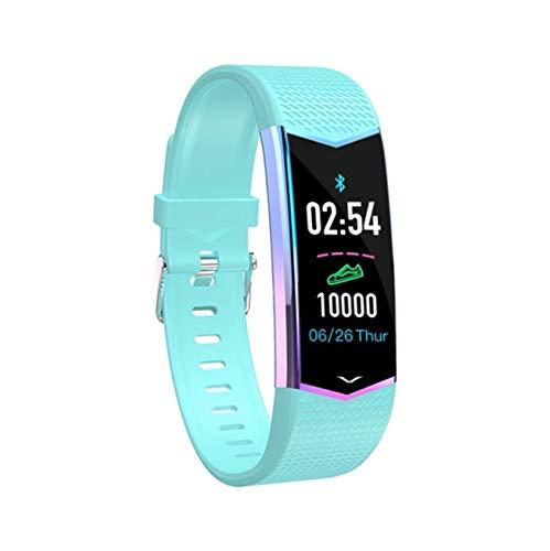 hzznshbfzh Smart Band Blutdruck Smart Armband Band Informationen Push Sport Fitness Gesundheit Armband Für Android Ios blau