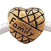 Andante-Stones 14K Gold Bead Family Familie - Element Kugel für European Beads + Organzasäckchen