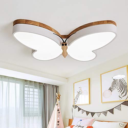 Deckenleuchte Led Modern Schmetterlings Schlafzimmer Deckenlampe Dimmbar 3000-6000K Wohnzimmer Leuchte Acryl-Schirm Kinder Mädchenzimmer Lampe Bestseller Eisen Kronleuchter Flur Bad Esstischleuchte