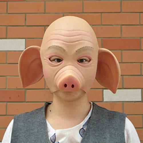 HAOBAO Kostüm-Schwein-Maskenhauben-Bühnenshow des Bühnenleistungsschweins acht Ringmasken Cosplay nettes Oben (Nettes Schwein Kostüm)