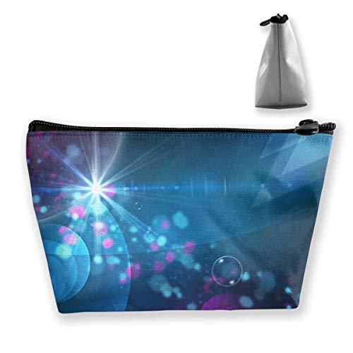 Kosmetiktasche Trapez Aufbewahrungstasche Light Glare Lines Bubble Tragbare Kosmetiktasche Ladies Mobile Travel Bag