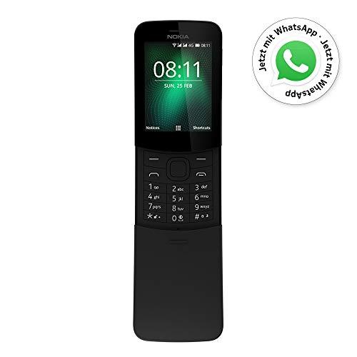 Nokia 8110 - Teléfono Celular con Llaves, 4G Memoria de 4 GB, Cámara de 2 Mp, 2,45', color Negro. Version Internacional.