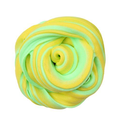 Dream Room Schöne Fluffy Slime 50ml Nicht Klebrig Bunt Slime Stress Relief Spielzeug Duftenden DIY Putty Sludge Toy für Mädchen und Jungen (B)