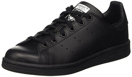 adidas Stan Smith, Sneakers Basses garçon, Noir (Black/footwear White), 38 2/3 EU