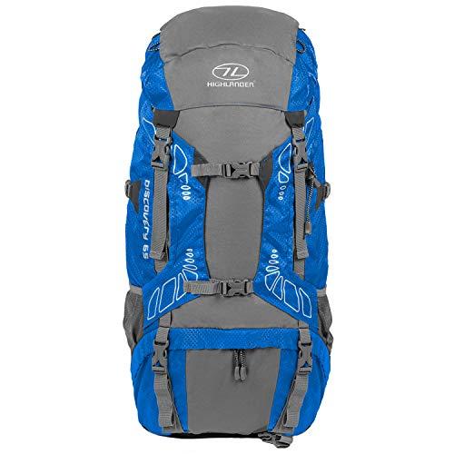 """Highlander 65 Liter Discovery Rucksack Leichter Wanderrucksack mit wasserdichter Hülle - Ideal zum Wandern, Reisen, Trekking, Camping und """"D of E""""*"""