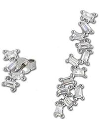 SilberDream–Boucles d'oreille–Boucles d'Oreilles Pendantes Glamour Zirconium–en argent sterling 925gso466W