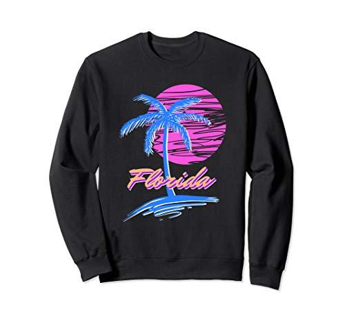 Florida Beach Retro 80s Aesthetic Vaporwave Synthwave Outrun Sweatshirt Florida-retro-sweatshirt