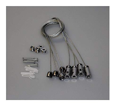 Seilabhängung für LED Panel 4-er Set Helitec Deckenbefestigung Seil Befestigungsset Aufhängung
