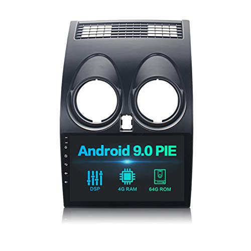 "Dasaita 9\"" Android 9.0 1 DIN Radio Coche Bluetooth Manos Libres con DSP 4G RAM 64G ROM para Nissan Qashqai J10 2008 2009 2010 2011 2012 2013 2014 Autoradio Coche Soporte WiFi GPS USB Mirror Link"