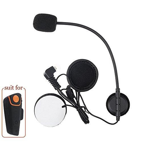 Fodsports Auricular de micrófono Auricular de cable duro para el casco de la motocicleta BT-S2 Interphone Intercomunicador de la motocicleta