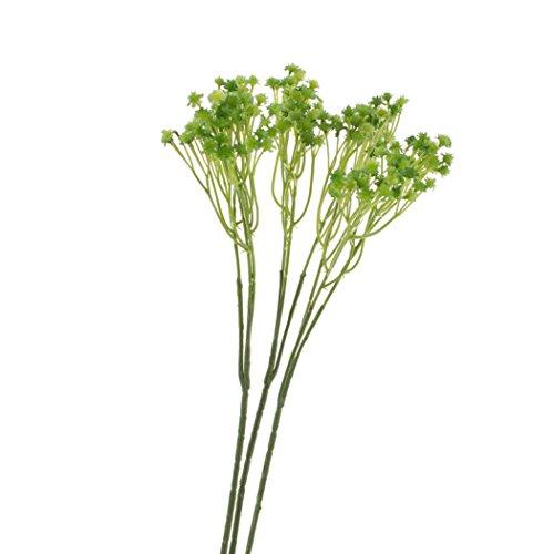 artplants Künstliches Schleierkraut/Gipskraut Cecilia, 3 Stück, grün, 45 cm, Ø 1 cm - Kunstblumen/Blumenstrauß Deko