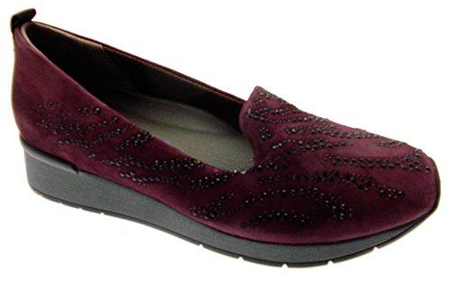 ec47e72b72 MELLUSO Marchez Techno Femme Chaussures Art Wedge R0042 Perles Bordeaux à  col