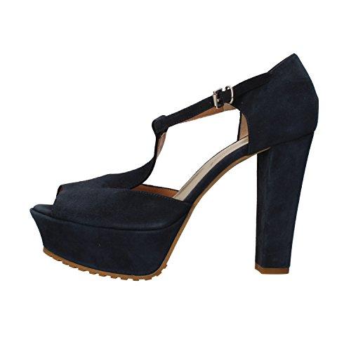 SERGIO CIMADAMORE sandali donna 40 EU blu camoscio AF485