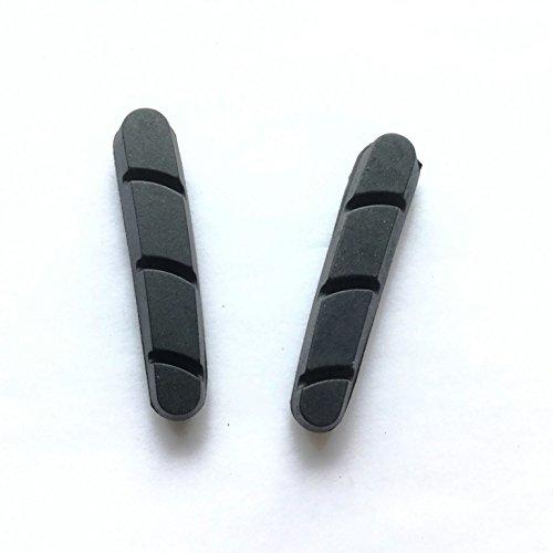 1 Paar Bremsbelag für shimano avid scram Rennrad Carbon Felge Bremsschuh (Schwarz) (Rim Avid)