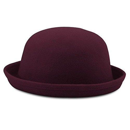 Chercher Y Mode heiße Neue warme Frauen Teufel Hut schöne Kitty Katze Ohren Wolle Derby Bowler Cap