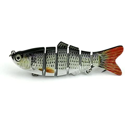 6segmentos HENGJIA articulado señuelo de pesca 0.62oz realista Lucio Señuelo Swimbait Lipless Shad Minnow duro