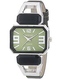 Excellanc  - Reloj de cuarzo para mujer, correa de diversos materiales color verde