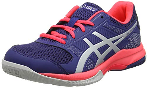 Asics Gel-Rocket 8, Zapatillas de Voleibol para Mujer, Rosa (Rouge Red/Black/White 1990), 39.5 EU