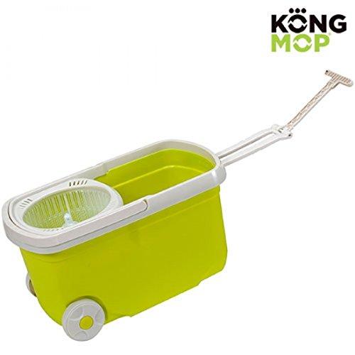 Kong mopa fregona giratoria y cubo con ruedas