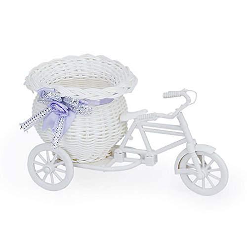 Housesweet Dreirad Blumenkorb Fahrrad Blumenvase Aufbewahrungsbehälter für Party Hochzeit Zuhause Garten Dekoration Ramdom (Party Dreirad Supplies)