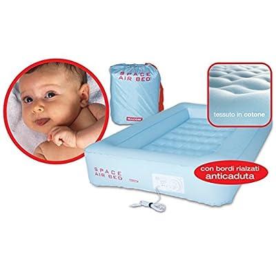 Macom Cuna De Viaje Space Air Bed Baby 820 Azul Celeste