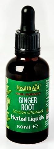 HealthAid Ginger Root (Zingiber officinale) Vegan Liquid 50ml