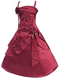 c142a8b420 KINLOU Vestido de Fiesta - Vestido de Carnaval de Cumpleaños de Princesa Dama  de Honor de