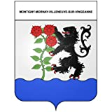 Montigny-Mornay-Villeneuve-sur-Vingeanne 21 ville Stickers blason autocollant adhésif Taille : 17 cm