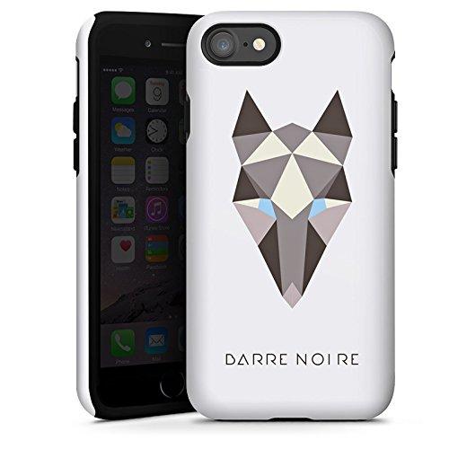Apple iPhone X Silikon Hülle Case Schutzhülle Fuchs Muster Fox Tough Case glänzend