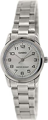 CASIO LTP-V001D-7 - Reloj con movimiento cuarzo, para mujer, color plateado