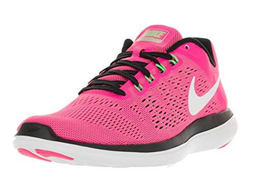 Nike WMNS Flex 2016 RN - Scarpe Running Donna Bianco-Nero-Rosa