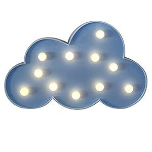 nube: NHsunray Lámparas decorativas,Decoración Iluminación Lámpara de mesa de luz LED ...
