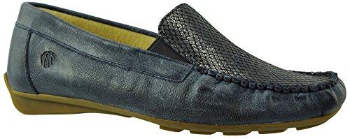 JJ Footwear Damen Schuh Leder Barcelona Normal Jeans