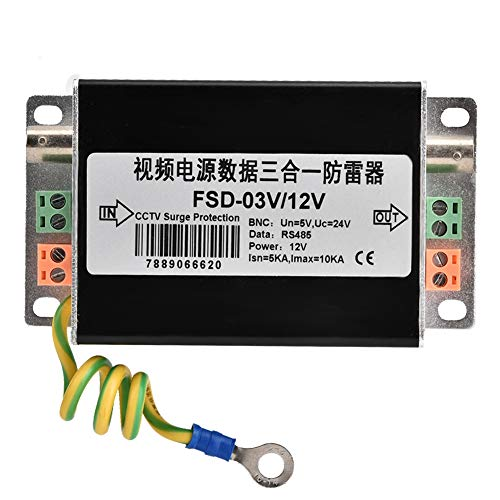 Xinwoer CCTV System Signal Netzteil 3 in 1 Professioneller Überspannungsschutz Portector Ableiter Gerät 12V