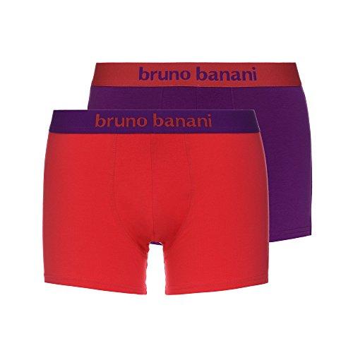 bruno banani Herren Boxershorts Short 2er Pack Flowing, 2er Pack, Mehrfarbig (Hibiskus//Violett 2544), XX-Large