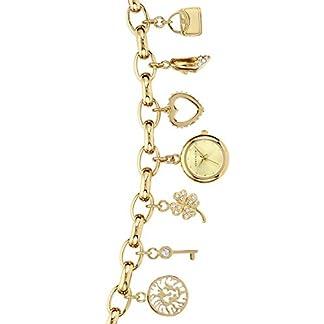 Anne Klein – Reloj de Pulsera para Mujer (Mecanismo de Cuarzo y Correa de Metal, combinación de Colores), Color Dorado