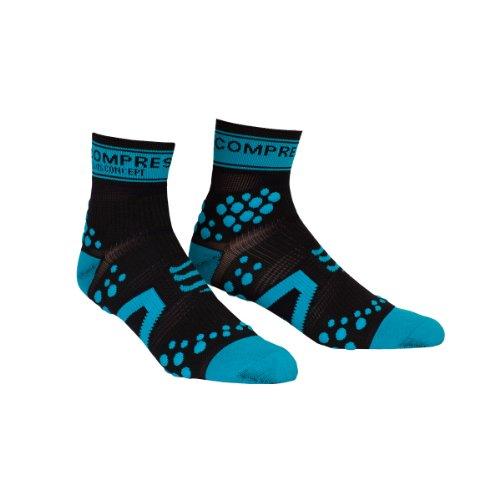 Compressport Pro Racing V2 Run Hi - Calcetines para hombre, color negr