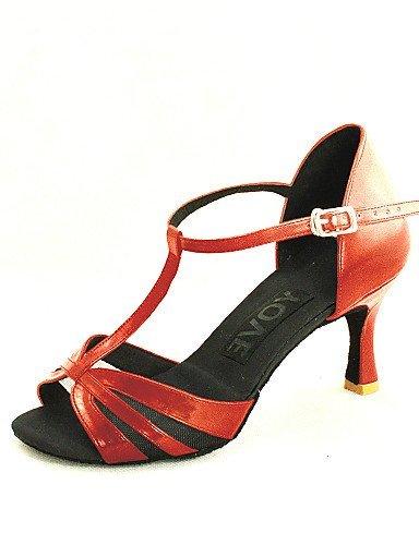 ShangYi Anpassbar - Maßgefertigter Absatz - Kunstleder - Latin/Salsa - Damen Red