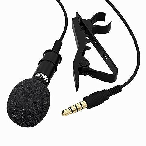 Tonor Lavalier Lapel Clip-on Omnidirektional Kondensator-Mikrofon Mini Mic für iPhone