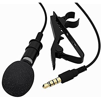 Tonor 3.5mm Audio Jack Microphone à Condensateur Omnidirectionnel Cravate Revers Tie Clip On Mini Mic pour Téléphone, Android, Iphone, Ipad
